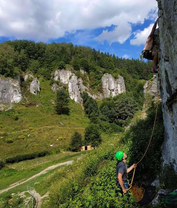 kurs skałkowy dla początkujących w Dolinie Kobylańskiej