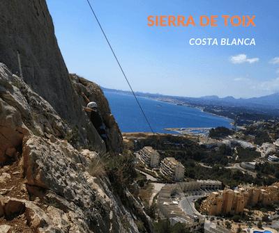 rejony wspinaczkowe Costa Blanca - Sierra de Toix