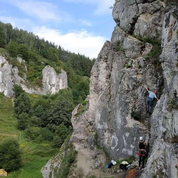 wspinaczka skałkowa dolina Kobylańska