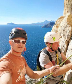 Penon de Ifach, Hiszpania, wielowyciągowe wspinanie