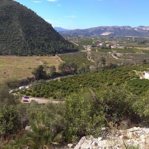 widoki z sektoru Hidraulics - wspinaczka Hiszpania