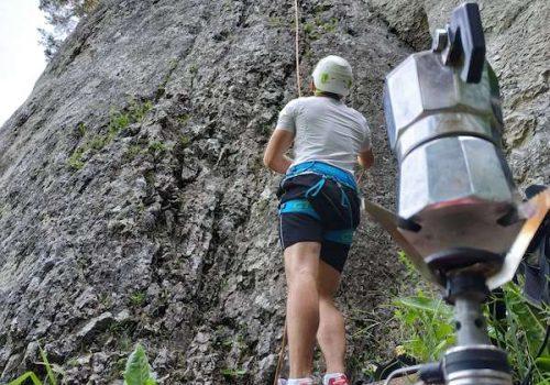 wspin_dzionek - pierwsze kroki w skałach